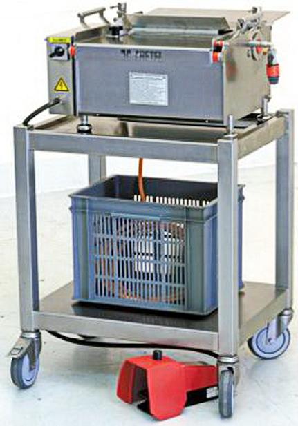 Cretel 362 SL Fish skin scrubbing machine 20-40 pcs/min