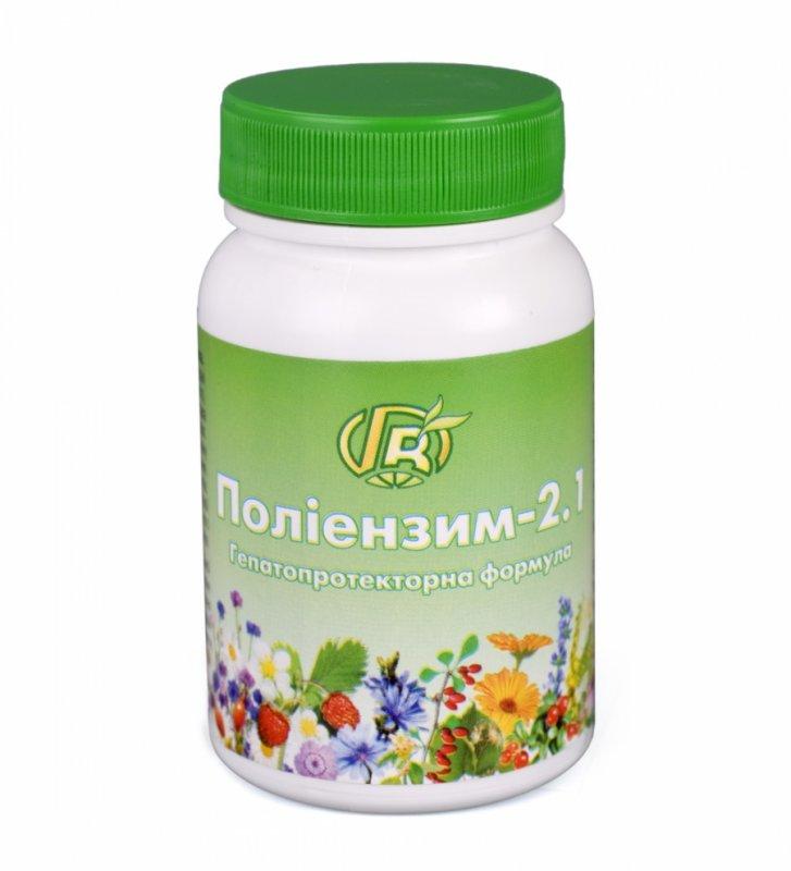 Купить Полиэнзим 2.1 Гепатопротекторный 140 г - диетическая добавка для печени с ферментами, травами, медом