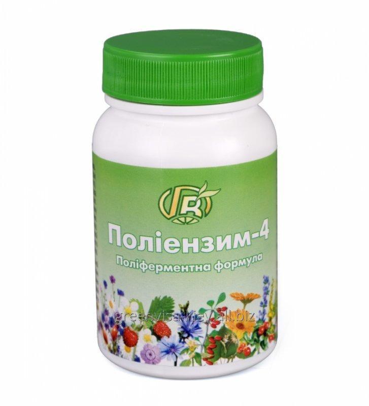 Купить Полиэнзим 4 Полиферментная формула 140 г - диетическая добавка с ферментами, травами и медом