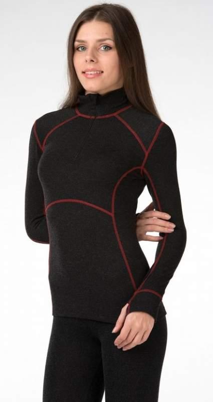 Джемпер женский с красными строчками