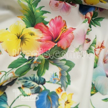 Buy Fabric chiffon a print (a parrot on dairy) 4951 Got stronger