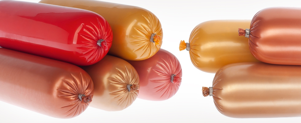 Polyamide barrier sausage casing