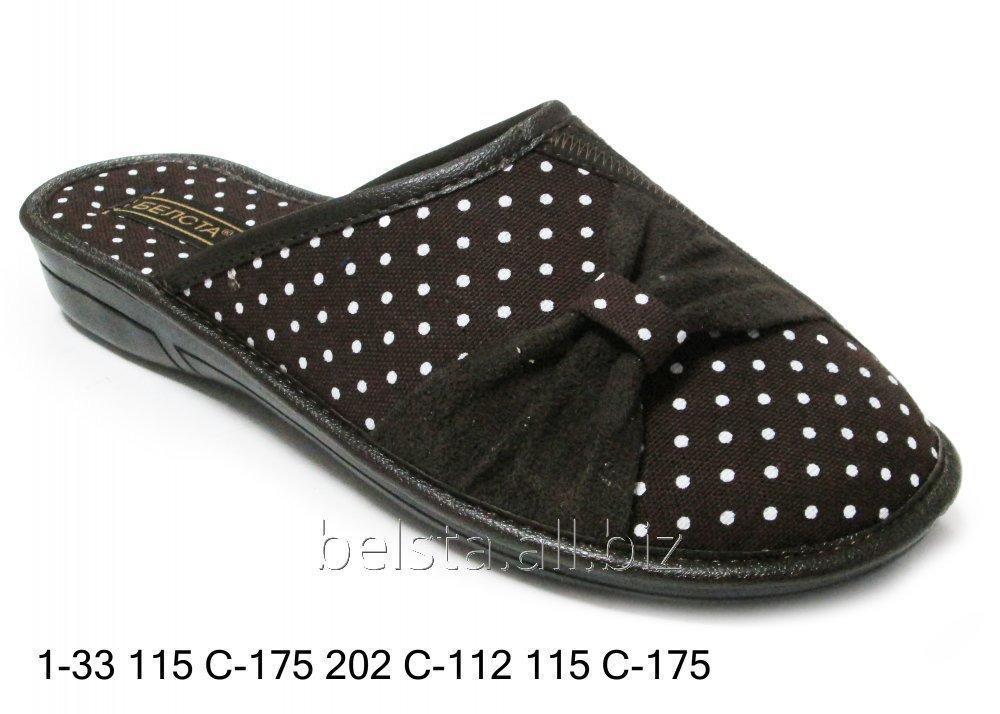 Женские тапочки 1-33 115С-175 202С-112 115С-175