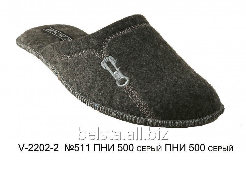 Мужские тапочки V-2202-2 №511 ПНИ 500 серый ПНИ 500 серый