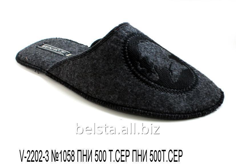 Мужские тапочки V-2202-3 №1058 ПНИ 500 т.серый ПНИ 500т.серый