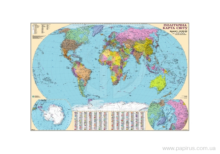 Buy Card Political map of the world, art.: 13172-22kp