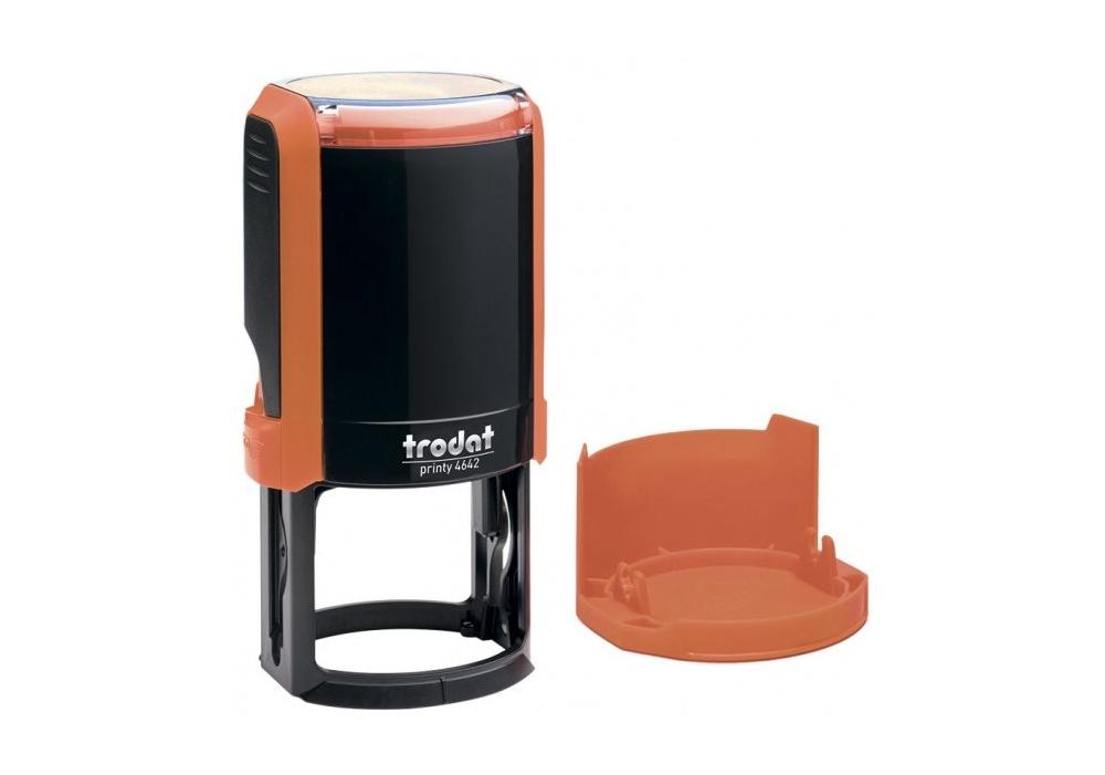 Купить Оснастка автомат., Тrodat 4642, пласт., для печатки d 42 мм, оранжевая