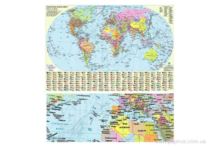 Buy Card Political map of the world, art.: AG0115