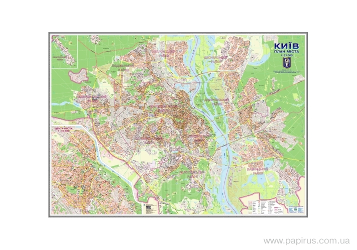 Buy The Plan of M of Kiev card to each house of M1:21000/cardboard, a lamination, levels /