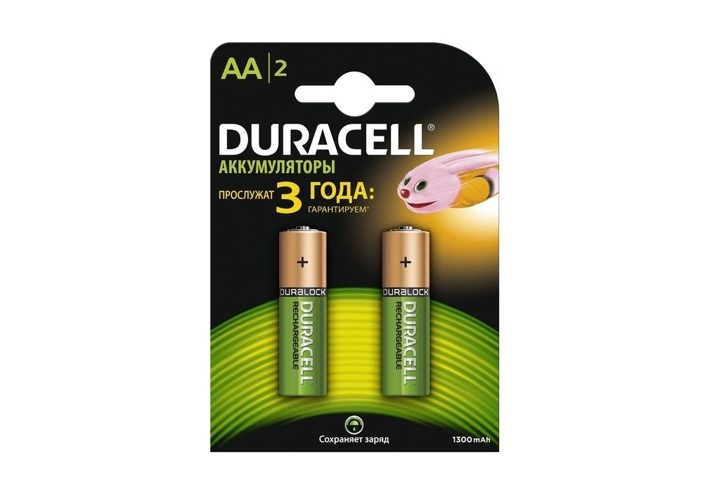 Аккумулятор Duracell AA 1300 mAh 2шт. в упаковке