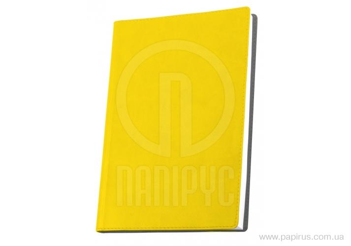 Купить Деловая записная книжка А6, Vivella, цвет обложки-желтый