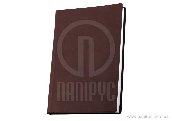 Купить Деловая записная книжка А6, Vivella, цвет обложки-коричневый