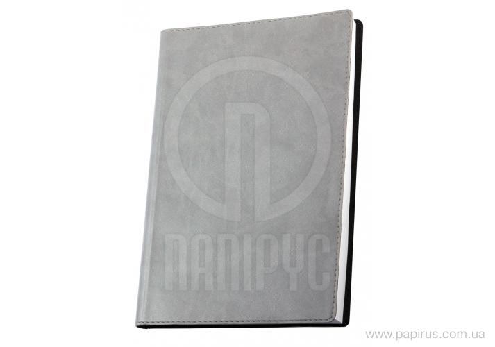 Купить Деловая записная книжка А6, Vivella, цвет обложки-серый