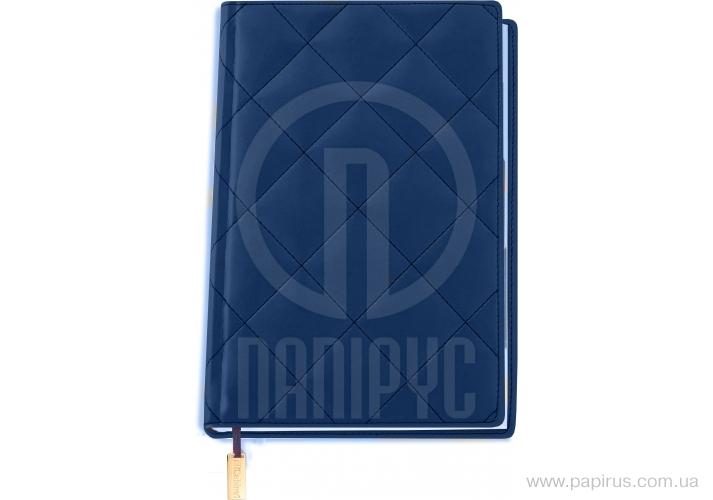 Купить Ежедневник недатированный, А5, Cabinet, Square, синий с мет.заклад и карманом