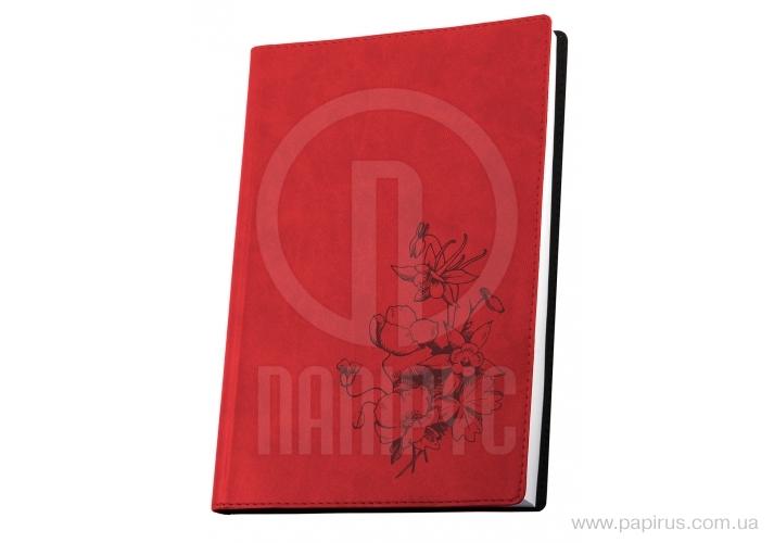 Купить Деловая записная книжка А5, теснение Мак, цвет обложки-красный