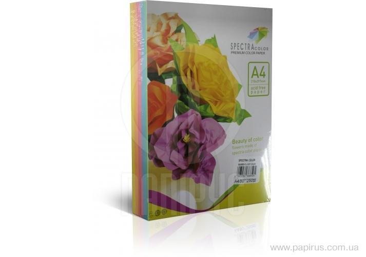 Paper color Sinar Spectra, Rainbow Pack Light, A4, 80 g/m2, 250 l, pastel, 5 flowers