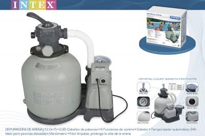 Песочный фильтр-насос Sand filter pump Intex 28652, 230V, 12113 л/ч, насос, 10031 л/ч, фильтр