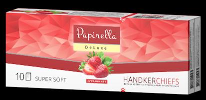 Носовые платки Papirella 3х слойные (аромат клубника)