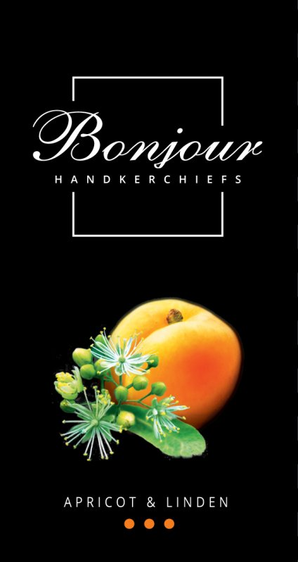 Носовые платки Bonjour (аромат липа-абрикос)