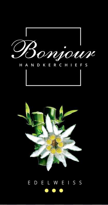 Носовые платки Bonjour (аромат эдельвейс)