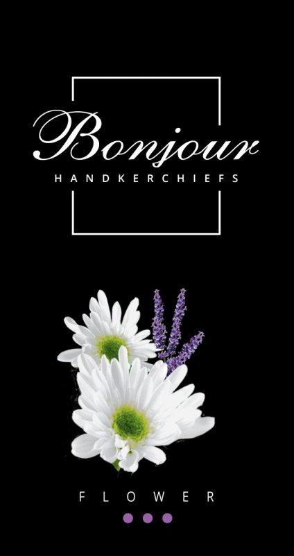 Носовые платки Bonjour (аромат цветок)