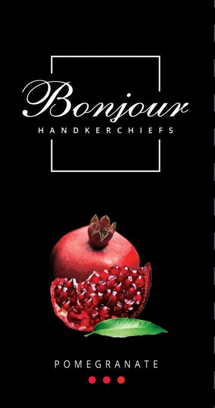 Носовые платки Bonjour (аромат гранат)