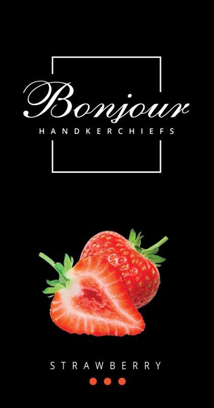 Носовые платки Bonjour (аромат клубника)