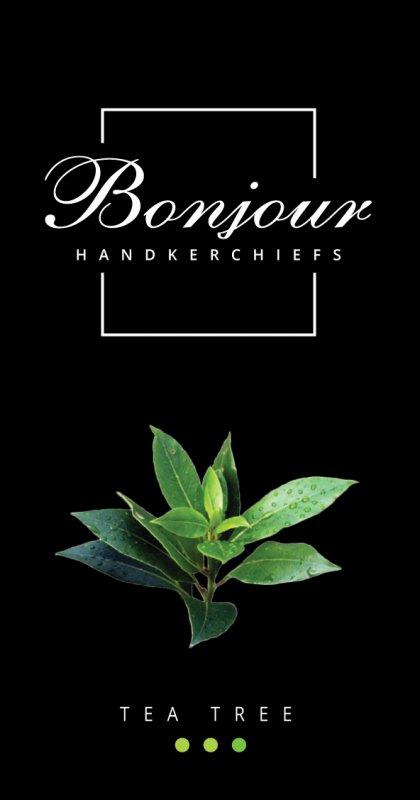 Носовые платки Bonjour (аромат чайное дерево)