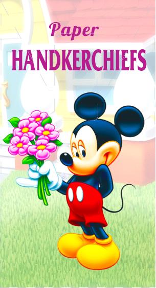 Носовые платки детские Mickey Mouse