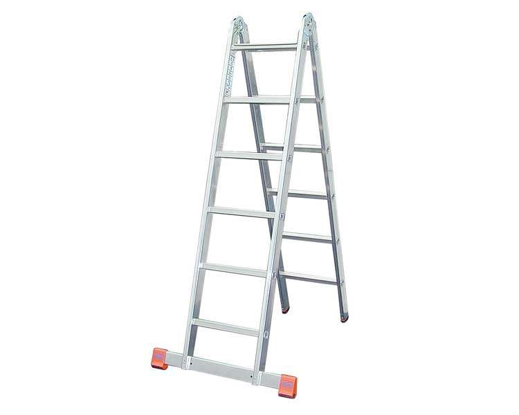 Купить Шарнирная двухсекционная лестница KRAUSE TriMatic 2x6 ступеней