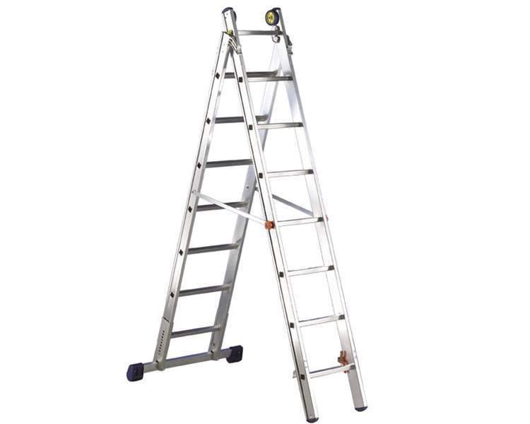 Купить Двухсекционная лестница SVELT LUXE 2 - 13+14 STEPS