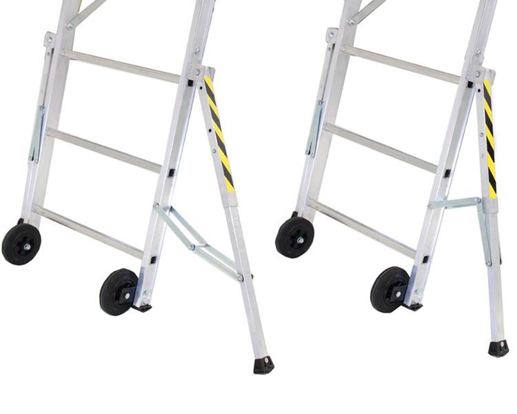 Купить Двусторонняя передвижная складная лестница-помост SVELT FLY 7 ступеней