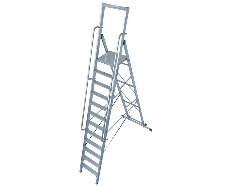 Купить Стремянка с поручнями и большой площадкой KRAUSE Stabilo 12 ступеней