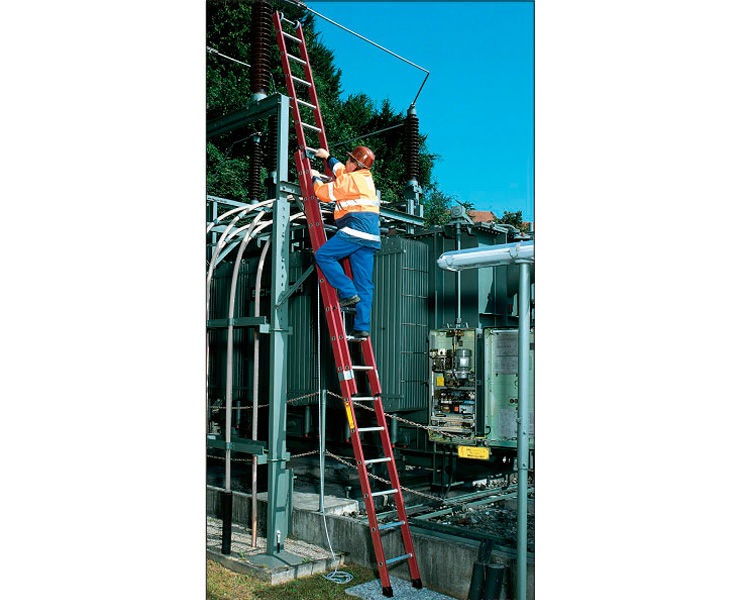 Купить Раздвижная диэлектрическая лестница KRAUSE 2x18 ступеней