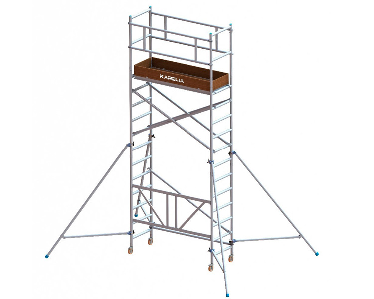 Buy Aluminum tower tour VIRASTAR KARELIA (0,6x1,8) working height of 5.45 m