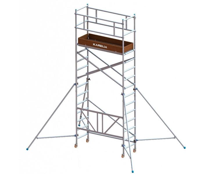 Купить Алюминиевая вышка-тура VIRASTAR Pro Tube F (0,6x1,8) рабочая высота 5,45 м