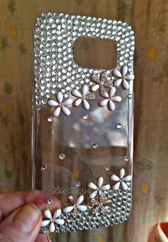 Роскошный хрустальный прозрачный 3D цветок кристалл алмаза чехол для Samsung Galaxy S7edge.