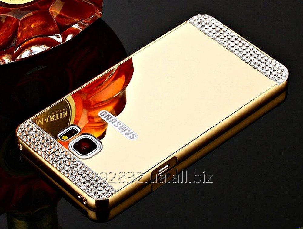 Роскошный чехол-зеркало с алмазами для Samsung Galaxy S7 Edge.
