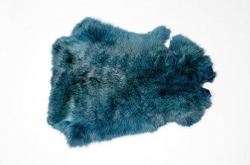 Шкура кролика (крашенная) голубой