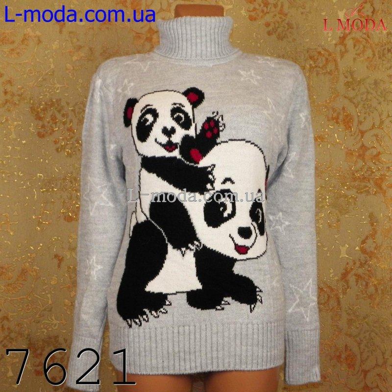 Свитер теплый женский панда, арт: 7621