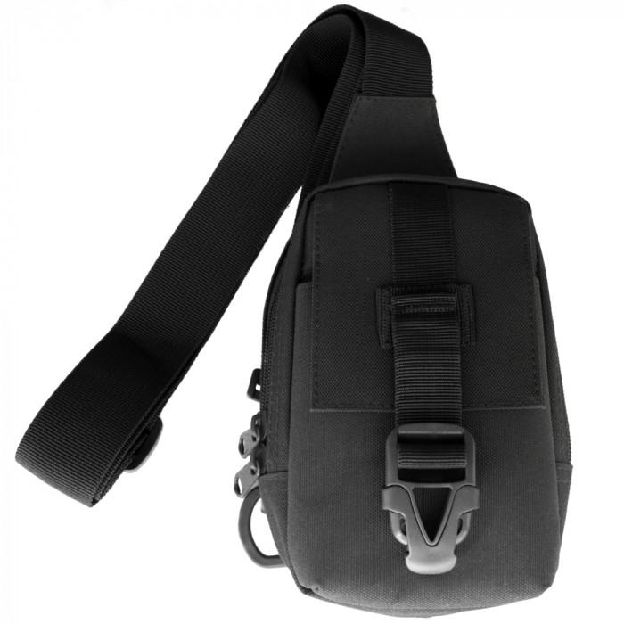 Сумка портмоне для телефона через плечо черная