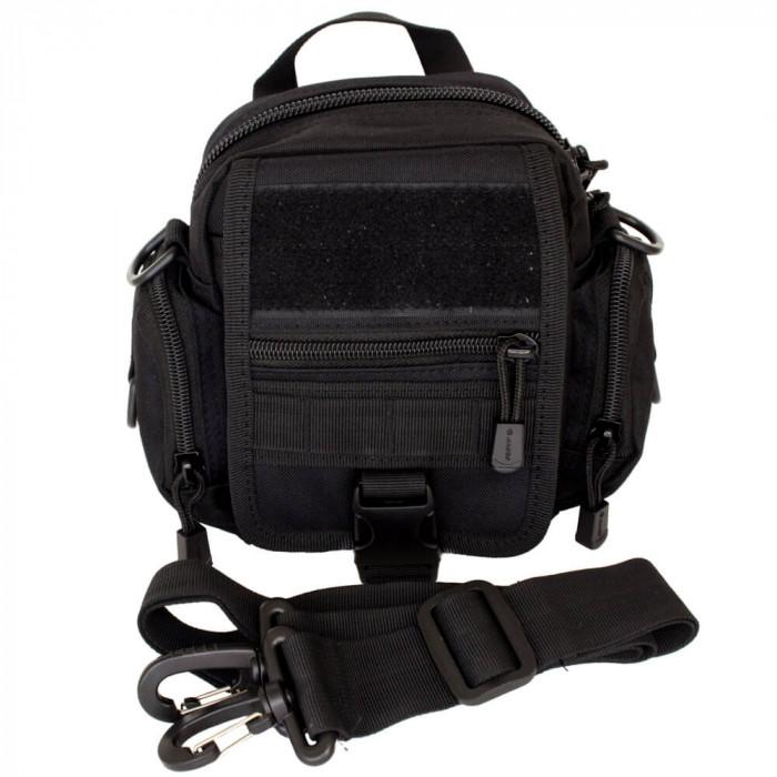 Comprar La bolsa universal con el sistema MOLLE a través del hombro negro TGBP-1027-bl