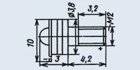 Излучающий диод ИК диапазона 3Л119А