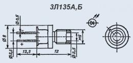 Излучающий диод ИК диапазона 3Л135Б