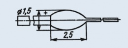 Излучающий диод ИК диапазона АЛ103А