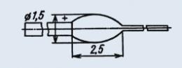 Излучающий диод ИК диапазона АЛ103Б