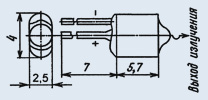 Излучающий диод ИК диапазона АЛ108АМ