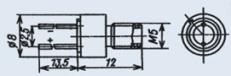Излучающий диод ИК диапазона АЛ132А