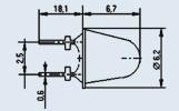 Излучающий диод ИК диапазона АЛ156Б