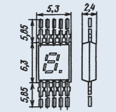 Индикатор знакосинтезирующий 3ЛС314А